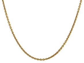 14k Yellow Gold 2.2mm Solid Polished Cable Chain 18 Inches