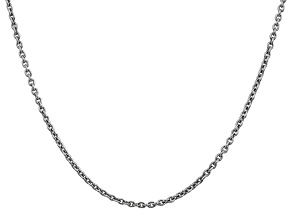 14k White Gold 2.20mm Cable Chain 24 Inches