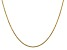 14k Yellow Gold 1.45mm Solid Diamond Cut Cable Chain 18 Inches