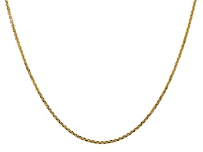 14k Yellow Gold 1.45mm Solid Diamond Cut Cable Chain 24 Inches