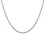 14k White Gold 1.45mm Solid Diamond Cut Cable Chain 16 Inches