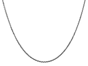 14k White Gold 1.45mm Solid Diamond Cut Cable Chain 18 Inches