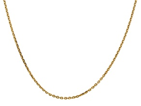 14k Yellow Gold 1.65mm Solid Diamond Cut Cable Chain 24 Inches