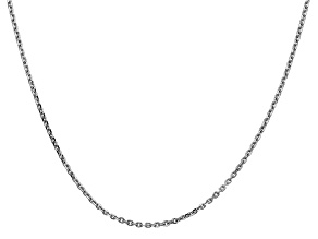 14k White Gold 1.65mm Solid Diamond Cut Cable Chain 16 Inches