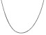 14k White Gold 1.65mm Solid Diamond Cut Cable Chain 24 Inches