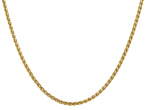 14k Yellow Gold 2.8mm Wheat Chain 16 Inches