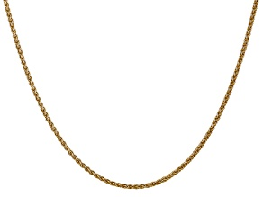 14k Yellow Gold 1mm Solid Polished Wheat Chain 16 Inches