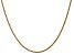 14k Yellow Gold 1mm Solid Polished Wheat Chain 20 Inches