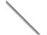 14k White Gold 1mm Wheat Pendant Chain 24 Inches