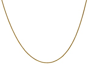 14k Yellow Gold 0.80mm Wheat Pendant Chain 18 Inches