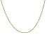 14k Yellow Gold 0.80mm Wheat Pendant Chain 20 Inches