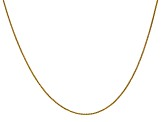 14k Yellow Gold 0.80mm Wheat Pendant Chain 24 Inches