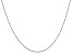 14k White Gold 1mm Polished Singapore Chain 16 Inches