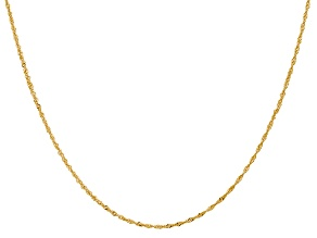 14k Yellow Gold 1.1mm Diamond Cut Singapore Chain 24 Inches