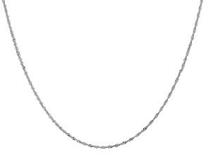 14k White Gold 1.1mm Diamond Cut Singapore Chain 16 Inches
