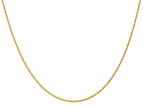 14k Yellow Gold 1.1mm Polished Baby Rope Chain 16 Inches