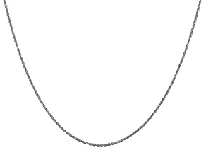 14k White Gold 1.1mm Polished Baby Rope Chain 16 Inches
