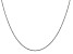 14k White Gold 1.1mm Polished Baby Rope Chain 18 Inches