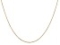 14k Yellow Gold 0.8mm Diamond Cut Cable Chain 18 Inches