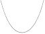 14k White Gold 0.8mm Diamond Cut Cable Chain 18 Inches
