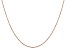 14k Rose Gold 0.8mm Diamond Cut Cable Chain 16 Inches