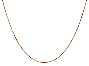 14k Rose Gold 0.8mm Diamond Cut Cable Chain 20 Inches