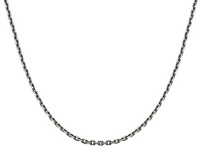 14k White Gold 2.5mm Diamond Cut Cable Chain 18 Inches
