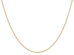 14k Yellow Gold 1.2mm Diamond Cut Baby Ball Chain 20 Inches