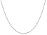14k White Gold 1.2mm Diamond -Cut Beaded Pendant Chain 20 Inches