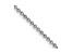 14k White Gold 1.2mm Diamond -Cut Beaded Pendant Chain 24 Inches