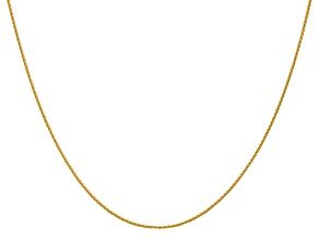 14k Yellow Gold 0.95mm Parisian Wheat Chain 18 Inches