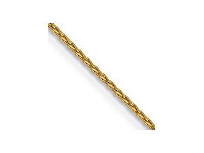 14k Yellow Gold 0.95mm Parisian Wheat Chain 18 Inches