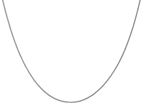 14k White Gold 1mm Parisian Wheat Chain 24 Inches