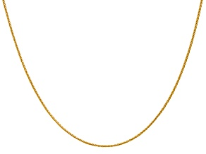 14k Yellow Gold 1.2mm Parisian Wheat Chain 18 Inches