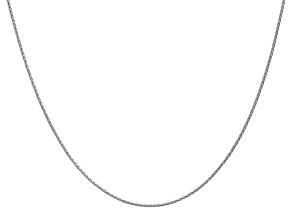 14k White Gold 1.2mm Parisian Wheat Chain 24 Inches