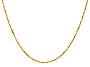 14k Yellow Gold 1.5mm Parisian Wheat Chain 18 Inches