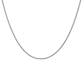 14k White Gold 1.5mm Parisian Wheat Chain 24 Inches