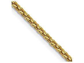 14k Yellow Gold 1.75mm Parisian Wheat Chain 18 Inches