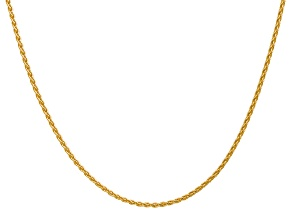 14k Yellow Gold 1.75mm Parisian Wheat Chain 24 Inches