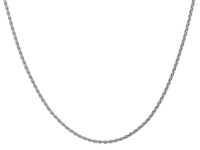 14k White Gold 1.75mm Parisian Wheat Chain 18 Inches