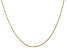 14k Yellow Gold 1.15mm Rolo Pendant Chain 16 Inches
