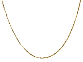 14k Yellow Gold 1.15mm Rolo Pendant Chain 18 Inches