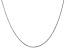 14k White Gold 1.15mm Rolo Pendant Chain 16 Inches