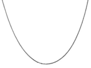 14k White Gold 1.15mm Rolo Pendant Chain 18 Inches