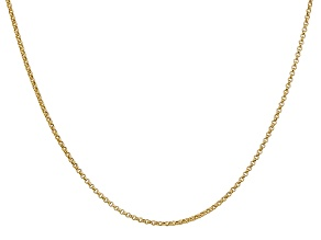 14k Yellow Gold 1.55mm Rolo Pendant Chain 16 Inches