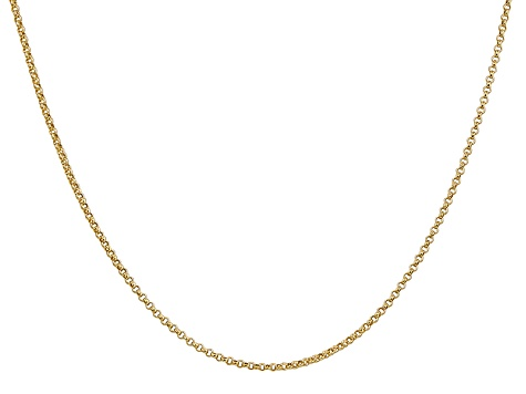 14k Yellow Gold 1.55mm Rolo Pendant Chain 18 Inches