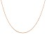 14k Rose Gold 0.5mm Cable Rope Chain 16 Inches