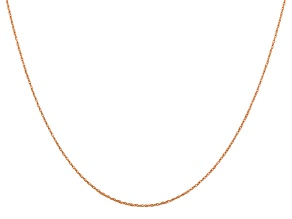 14k Rose Gold 0.5mm Cable Rope Chain 18 Inches