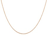 14k Rose Gold 0.5mm Cable Rope Chain 20 Inches