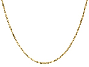 14k Yellow Gold 1.5mm Mariner Link Chain 18 Inches